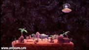 В космоса - смешна анимация