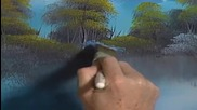 S14 Радостта на живописта с Bob Ross E09 - крайречно бягство в овал ღобучение в рисуване, живописღ