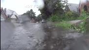 Силна гръмотевична буря в Куинс , Ню Йорк 13.6.2014