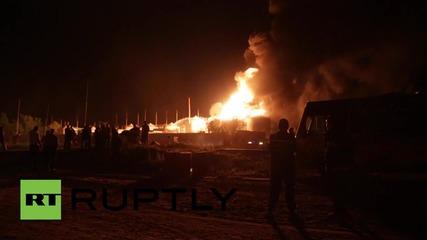 Пожар в петролен скалд до Киев