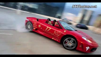 колата : ferrari F430 Spyder | дейност: Drift | място : Parking in Las Vegas