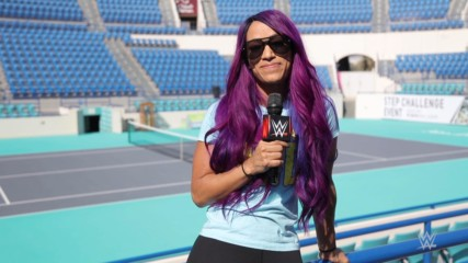 Sasha Banks returns to Zayed Sports City Tennis Stadium