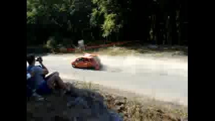Рали Сливен 2008 Форд Фиеста без задна гума