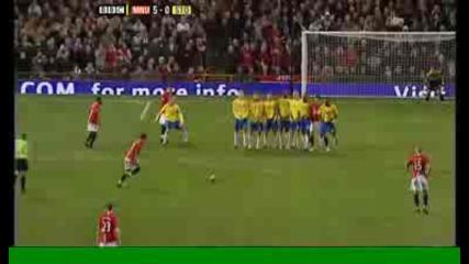 Манчестър Юнайтед 5 - 0 Стоук Сити (роналдо)