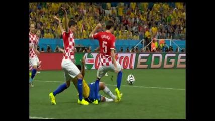 Бразилия 3-1 Хърватия на старта на World Cup 2014 (12 6 2014)