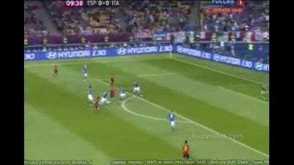 Уникалната Испания защити титлата си, остава цар на Европа и света (испания - Италия 4-0)
