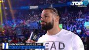 Top 10 Mejores Momentos de SMACKDOWN: WWE Top 10, Jul 23, 2021