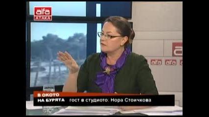 В окото на бурята Магдалена Ташева и Нора Стоичкова тема: Енергетика. Тв alfa-атака 14.12.2013г.