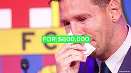 Playboy model bids $600,000 on Messi's teary tissue