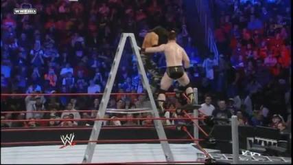 John Morrison хвърля Sheamus върху стълба