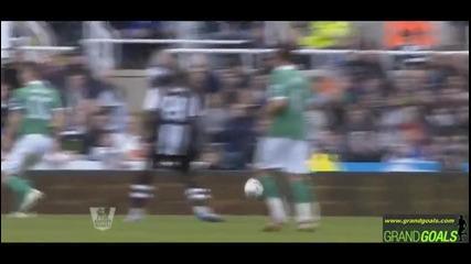 Newcastle United vs Norwich City 1 - 0 Goal P. Cisse