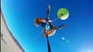 Скок с въже от балон