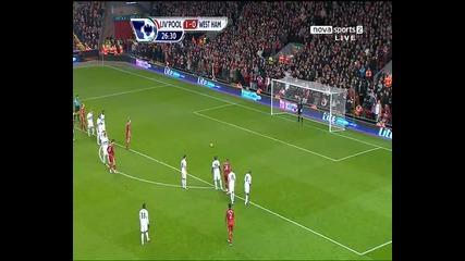 Liverpool 2 - 0 West Ham ( Kuyt - Pen )