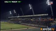 Тока на стадион лазур бе спрян но оправен след няколко минути