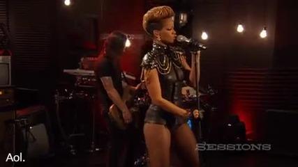 Rihanna - Russian Roulette Live @ A O L Sessions