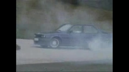 Bmw Alpina e30 B6 3.5 burnout, donut drift