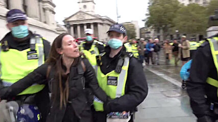 UK: Several arrested in London anti-COVID restrictions protest