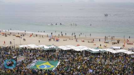 Tens of Thousands March Across Brazil Nation, Demanding President's Ouster, End to Corruption