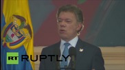 Colombia: President talks FARC's unilateral ceasefire