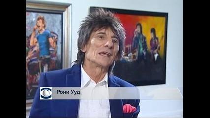 Китаристът на Rolling Stones Рони Ууд откри самостоятелна изложба в Лондон
