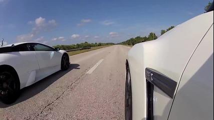 Улична гонка! Lamborghini Murcielago vs. Nissan Gt-r