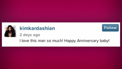 Kanye West Is Late on Wishing Happy Anniversary to Kim Kardashian