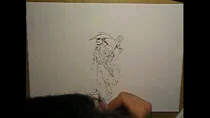 Speed Drawing A Cowboy