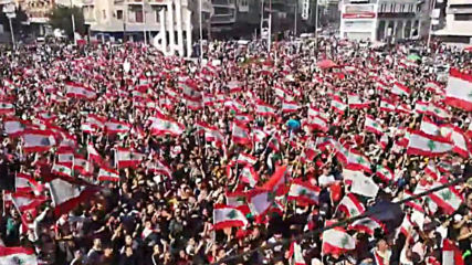 Lebanon: Sea of flags in Tripoli rally as anti-government protests continue