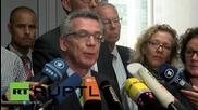 Германия: Министърът на вътрешните работи е притеснен от атаките над бежанците