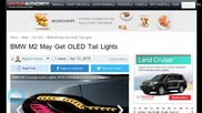 BMW M2 May Get OLED Tail Lights