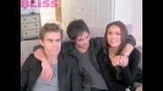 Превод! The Vampire Diaries Видео интервю на главното трио