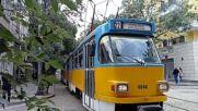 Трамвай Татра Т4д-м на ул. Пиротска в София