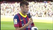 Neymar's Presentation in Barcelona (full Presentation)