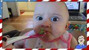 Реакция на бебе, което опитва за пръв път авокадо - Смях