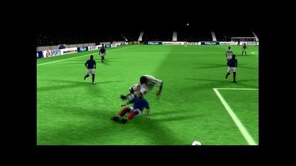 Фифа10 - Роналдо можел да лети :d