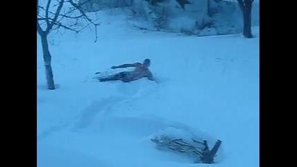 ска4ане вув сняг :p
