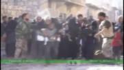 Syria: Militants fire at civilians fleeing Aleppo's Al-Sakhour district