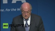 Switzerland: FIFA president Blatter to resign amid corruption scandal