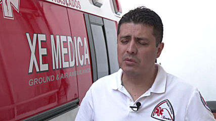 Inflatable suit protects from COVID-19 keeping Mexican paramedics cool