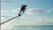 Прекрасен спорт.сърфинг във въздуха.