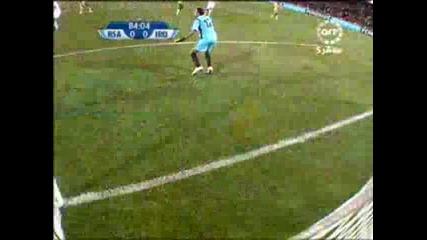 14.06 Най - големия пропуск за 2009 година ! Юар - Ирак 0:0 Купа на Конфедерациите