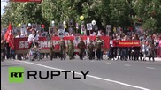 Russia: Crimean Prosecutor Natalia Poklonskaya joins Simferopol V-Day parade