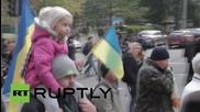 Ukraine: Svoboda leader Tyahnybok joins nationalist marchers in Kiev