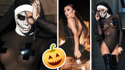 Николета Лозанова скандализира Църквата със секси снимки за Хелоуин