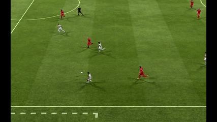 фифа 13- бърза атака в стила на реал завършена с гол !!!