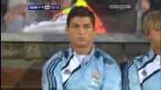 Кристиано Роналдо сърдит на резервната скамейка