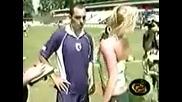 Журналистка надъха футболист, показвайки му дупето си /видео/