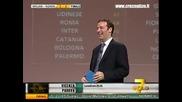 Тициано Крудели откача по време на мача Милан - Рома 2:1