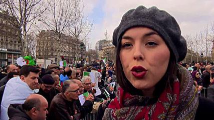 France: Paris' Algerian diaspora protests against Bouteflika's fifth term