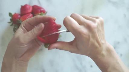 Роза от ягода